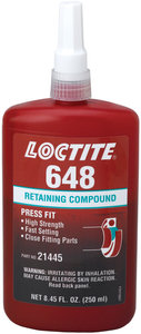 250ml Bottle Loctite® Green High Strength Retaining Compound | Fastenal