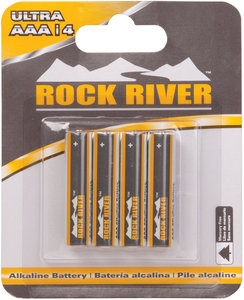 Aaa size 1 5v rock river alkaline battery 4 pack fastenal for Bulk river rock for sale near me