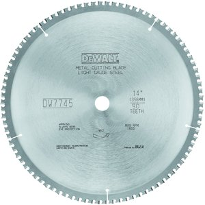 Dw7745 1490t thin gauge metal cutting blade fastenal keyboard keysfo Choice Image