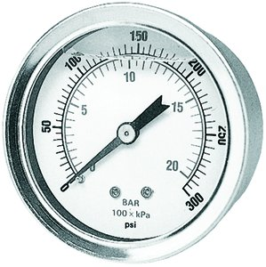 "... Gauge 1/4"" Centr Back Mnt Liquid Filled 0/160lbs PRSS 