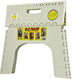 103 6wh 12 Quot White 300lb Cap E Z Foldz Folding Step Stool