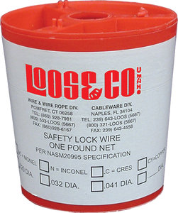 1 lb (0.041 Dia) Spool 304 Stainless Steel Locking and Safety Wire ...