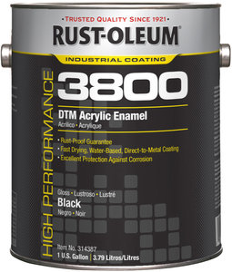 1gal Can Black Gloss Water Based Acrylic Rustoleum Direct