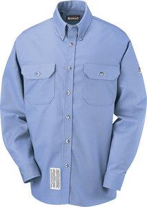 XL Long 7oz 88% FR Cotton 12% Nylon Light Blue Dress Shirt - Fastenal