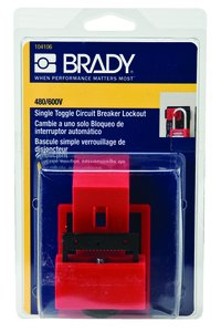BRADY 104106 Breaker Lockout,Clamp On,480//600V,Red