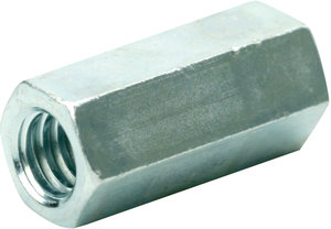 1//2-13 to 3//8-16 x 1 1//4 Long Coupling Reducer Nut 4 Reducer Hex Coupling Nuts with Zinc Plate Nut Reducer