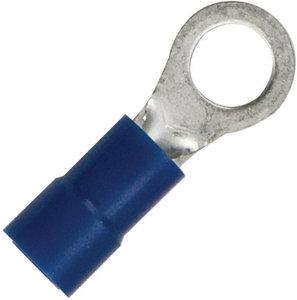 Bulk of 100 16-14 Gauge  #10 Stud  Nylon Insulated  Ring Terminal